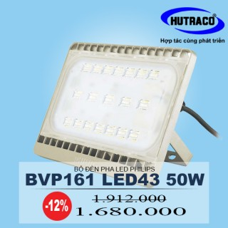 Bộ đèn pha LED Philips Floodlight BVP161 LED43/CW 50W 220-240V